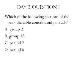 Period 3 Periodic Table Which Group In The Periodic Table Contains Only Nonmetals