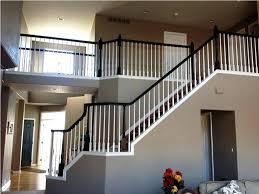 wood stair railing kits interior exterior aluminum banister bq