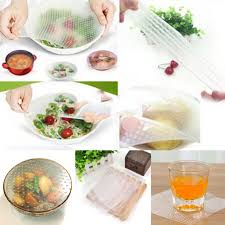 silicone cuisine 4pcs 3size set silicone food wraps seal cover multifunctional