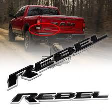 abs and brake light on dodge ram 1500 car styling refitting abs car motorcycle tailgate nameplate rebel