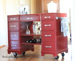 Create A Cart Kitchen Island Kitchen Island Bar Cart From Vintage Desk To Modern Rolling Cart