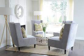 grey living room chairs yellow and gray living room with chairs in circulation formation