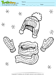 clothes coloring pages winter clothes coloring sheet turtle diary