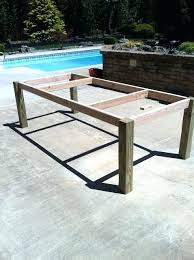Plans For Outdoor Wood Table by Dining Table Building A Dining Table Diy Rustic Outdoor Dining
