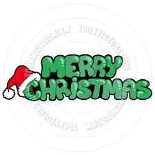 merry christmas sign merry christmas sign with hat by clairev vectors