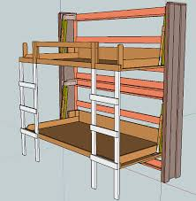 Ana White Build A Side Street Bunk Beds Free And Easy Diy by Stacked Twin Murphy Bed Ana White The Basement Project