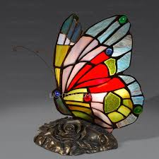 mini stained glass ls vintage stained glass small tiffany butterfly l