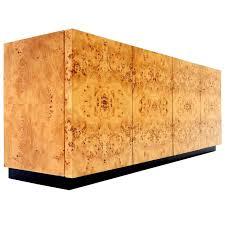 Birdseye Maple Kitchen Cabinets 1976 Milo Baughman For Thayer Coggin Birdseye Maple Burl Wood