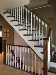 Box Stairs Design Changing A Box Stair To An Open Left Stair With White Spindles And