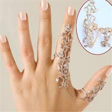 gold knuckle rings images Vintage punknown crystals flower finger stack knuckle ring gold jpg
