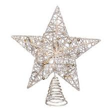 Star Christmas Tree Toppers Lighted - champagne gold star christmas tree topper with lights u2013 lighted
