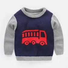 Sweater Toddler 2017new Fashion Sweater Car Pattern Boys