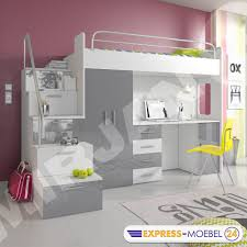 Schreibtisch 3 Meter Hochbett Etagenbett Multimo 4s Kinderbett Mit Schreibtisch Und