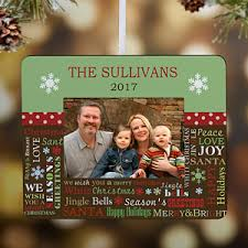 personalized christmas ornament picture frame holiday memories