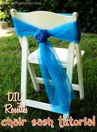 how to make chair sashes party ideas by mardi gras outlet diy chair sash rosettes a tutorial