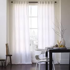 Cotton Curtains And Drapes Cotton Canvas Curtain White West Elm