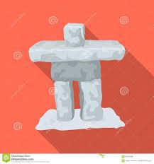kanada fläche steinskulptur in kanada einzelne ikone kanadas im flachen