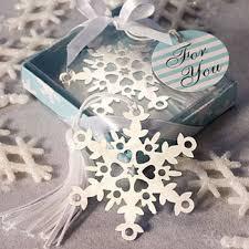 bookmark favors snowflake bookmark wedding favors unique wedding favors