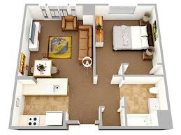 Floor Plan For One Bedroom House 20 One Bedroom Apartment Plans For Singles And Couples Home