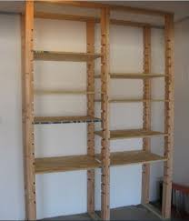Simple Wood Storage Shelf Plans by The 25 Best Garage Shelving Plans Ideas On Pinterest Building