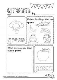 color green worksheet free worksheets library download and print