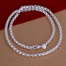silver rope chain bracelet images Unisex sterling silver plated twist rope chain bracelet necklace jpg