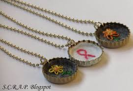 bottle cap necklaces s c r a p scraps creatively reused and recycled art projects