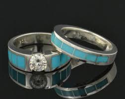 turquoise and wedding ring turquoise engagement ring etsy