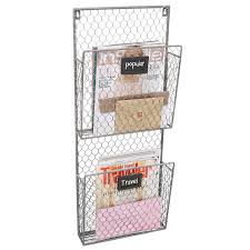 Mail Organizer Wall Amazon Com Country Rustic Gray 2 Tier Wall Storage Baskets