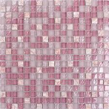 Glass And Stone Backsplash Tile by Light Purple Stone And Glass Mosaic Tile Square Bathroom Wall Decor