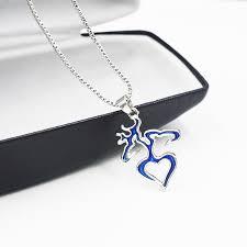 Buck And Doe Couples Necklace Online Shop Blue Deer Hunting Buck U0026 Doe Couples Necklace