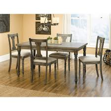 5 piece dining room sets sauder barrister lane 5 piece dining table set gray 1 ebay