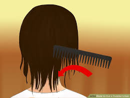 how to cut hair straight across in back 4 ways to cut a toddler s hair wikihow