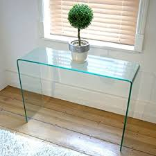 Glass Console Table Curved Glass Console Table Small W75 5 X D31 X H78 C M Co