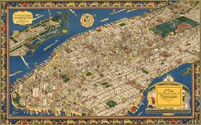map of manhattan a map of the wondrous isle of manhattan 1926 maps