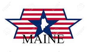 Maine State Map by Maine State Map Flag And Name Royalty Free Cliparts Vectors