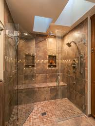 bathroom shower designs grey matt wall ceramic tiles stainless steel base cabinets decor