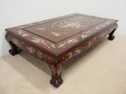 chinese rosewood side table chinese rosewood and mother of pearl inlaid coffee table antiques