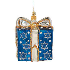 blown and painted glass of david hanukkah