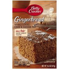 Betty Crocker Cake U0026 Cookie Mix Gingerbread 14 5 Oz Walmart Com