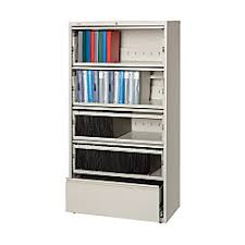 5 Drawer Lateral File Cabinets Workpro 5 Drawer Roll Out Shelf Lateral File Cabinet 68 58 H X 36