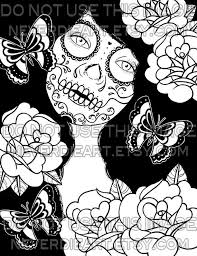 dead flower coloring page 12 best coloring pages skull images on pinterest sugar skulls