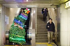 the u201cwearable christmas tree u201d now running the streets of tokyo