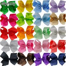 hair bows myamy 20pcs 6 inches hair bows grosgrain ribbon bow with alligator