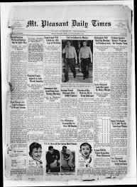 Newspaper Wedding Program Mt Pleasant Daily Times Mount Pleasant Tex Vol 17 No 323