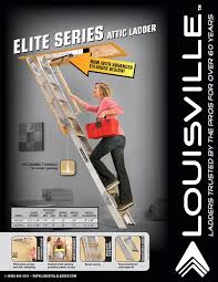 louisville ladder aa229gs elite aluminum attic ladder 350 pound