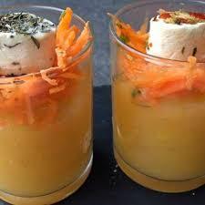 cuisiner des carottes verrine aux navets boule d or carottes et fromage frais recette au