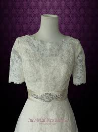 modest wedding dress with sleeves vintage lace wedding dress with