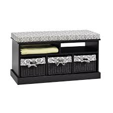 Jysk Storage Ottoman Bench Black