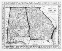 Georgia State Map by Hargrett Library Rare Map Collection Frontier To New South